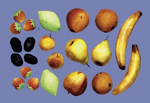 Painted Fruit, German Pastry : Stock Photo