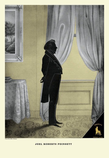 Joel Roberts Pointsett, Brown's Silhouette Portrait Gallery of Famous Americans : Stock Photo