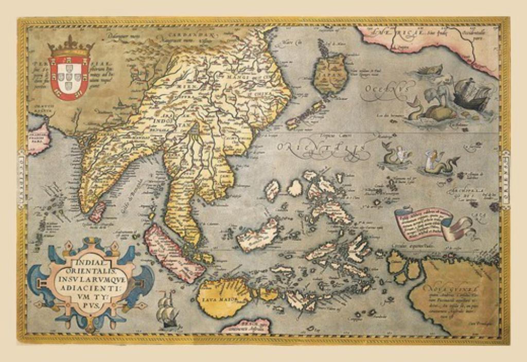 Stock Photo: 4408-8009 Map of South East Asia, Theatro D'el Orbe La Tierra - Ortelius