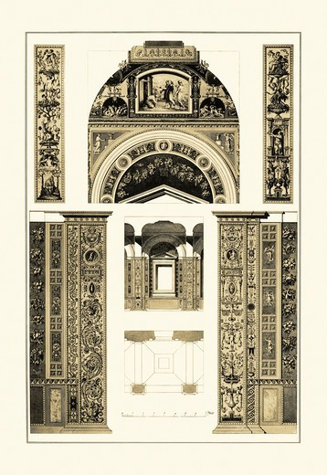 Decoration of the Second Corridor of the Loggie in the Vatican, Renaissance : Stock Photo