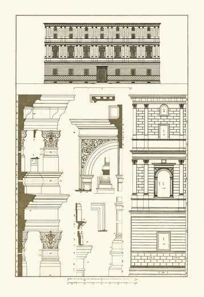 Palazzo Giraud at Rome, Renaissance : Stock Photo