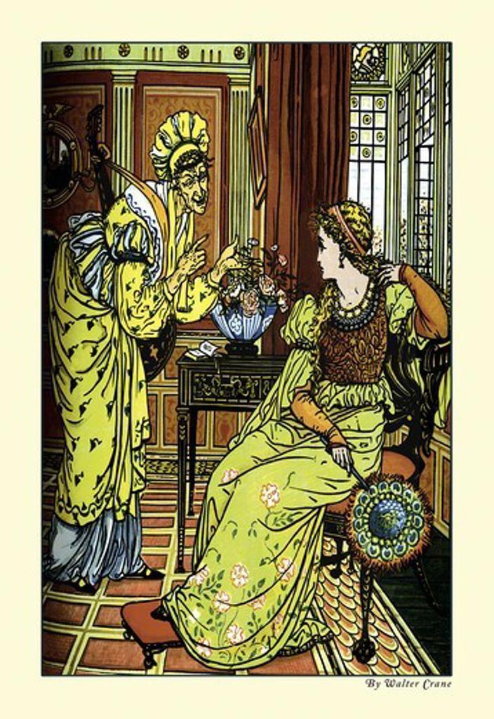 Stock Photo: 4408-8278 Princess Bell-Etoile Tempted By Teintise, Walter Crane - Aladdin