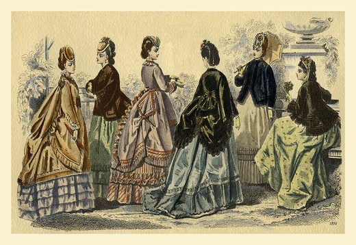 Stock Photo: 4408-8617 Ladies on the Veranda, Italian Fashion