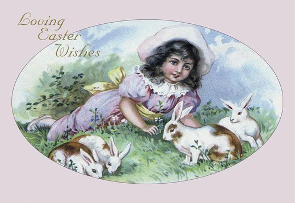 Stock Photo: 4408-8625 Easter Girl, Easter