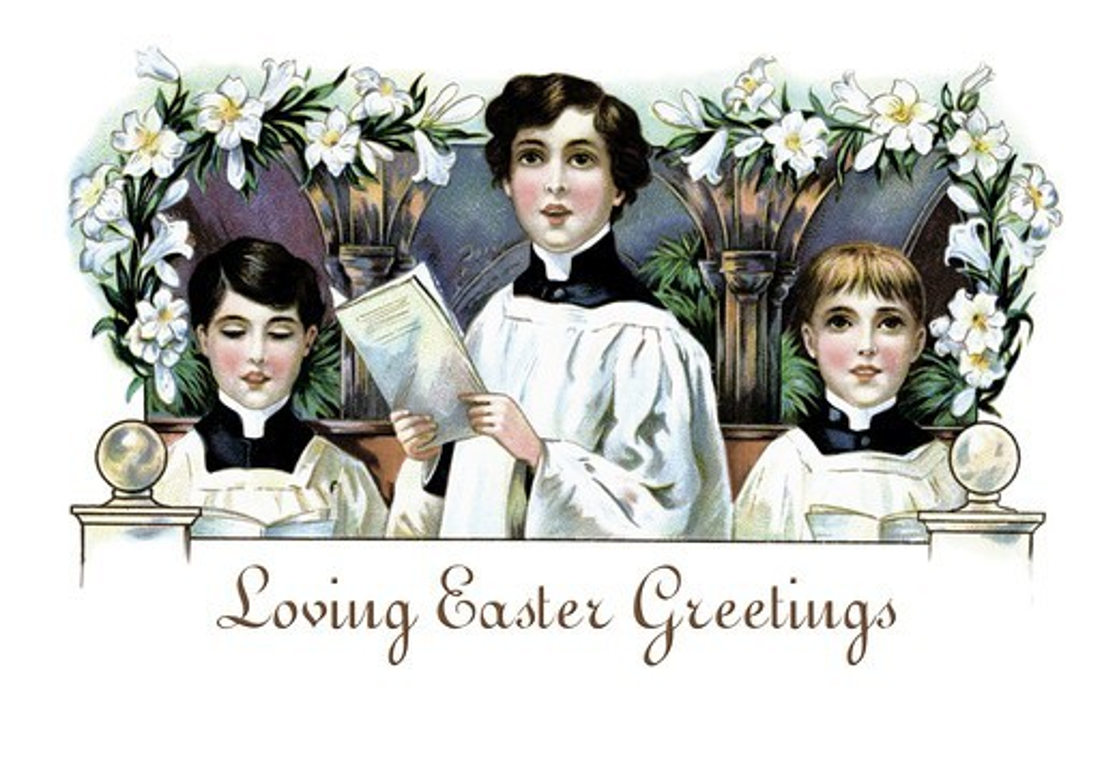 Stock Photo: 4408-8635 Loving Easter Greetings, Easter