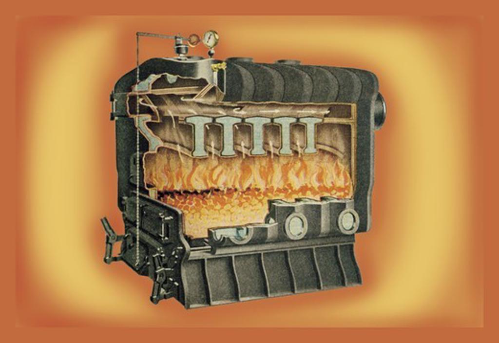 Stock Photo: 4408-8705 Furnace #1, Interior Design - Plumbing Fixtures & Furnaces
