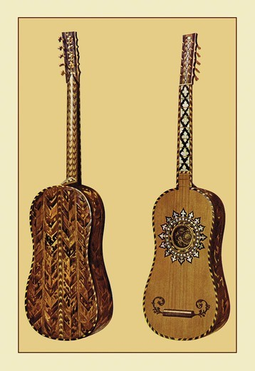 Stock Photo: 4408-8818 Rizzio Guitar, Renaissance Musical Instruments