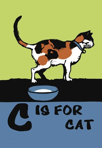Stock Photo: 4408-9262 C is for Cat, C.B. Falls - Animal Alphabet