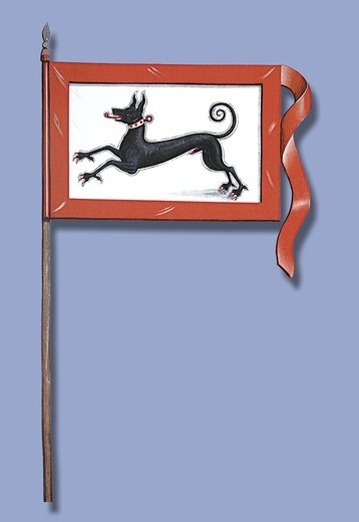 Stock Photo: 4408-9619 Banniere de l'Abbaye de Murbach, Heraldry - Flags & Banners