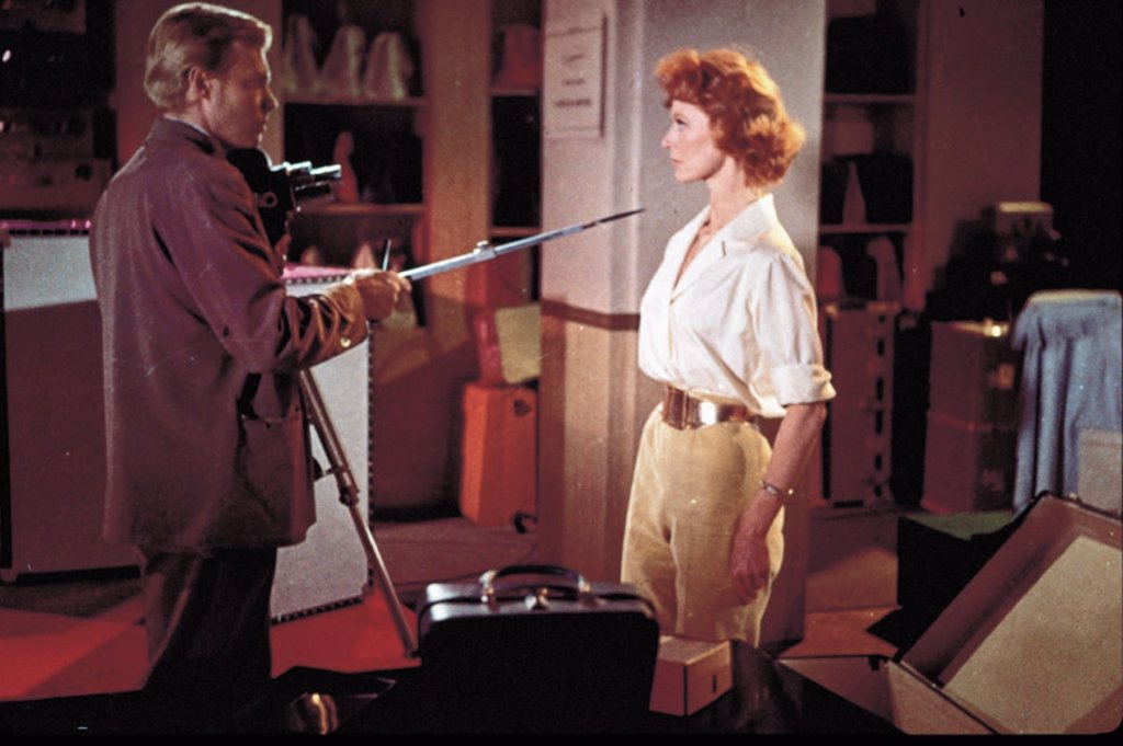 Original Film Title: PEEPING TOM. English Title: PEEPING TOM. Film Director: MICHAEL POWELL. Year: 1960. Stars: MOIRA SHEARER; KARLHEINZ BOEHM. : Stock Photo