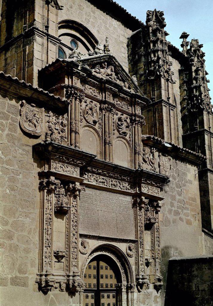 PORTADA DEL SANCTI SPIRITUS. Location: IGLESIA DE SANCTI SPIRITUS, SALAMANCA, SPAIN. : Stock Photo