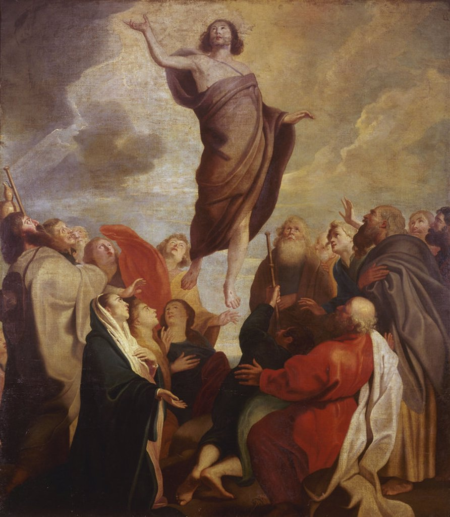 Stock Photo: 4409-10303 ASCENSION DE CRISTO ANTE LOS DISCIPULOS. Location: PRIVATE COLLECTION, MADRID, SPAIN.