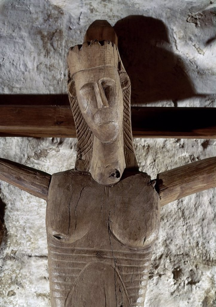 Stock Photo: 4409-103104 TALLA EN MADERA-CRUCIFIXION. Location: IGLESIA DE SANTA EUFEMIA, ORENSE, SPAIN.