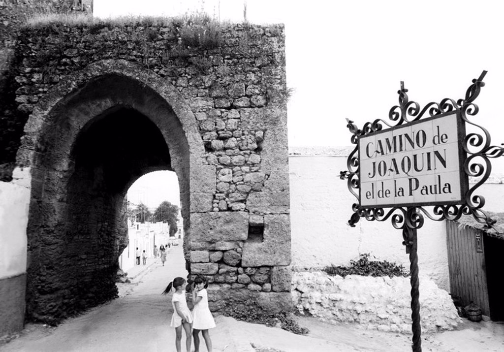 Stock Photo: 4409-1036 The Joaquín el de la Paula road located at Alcalá de Guadaíra village of the Seville province (Andalusia). Picture taken in 1969.