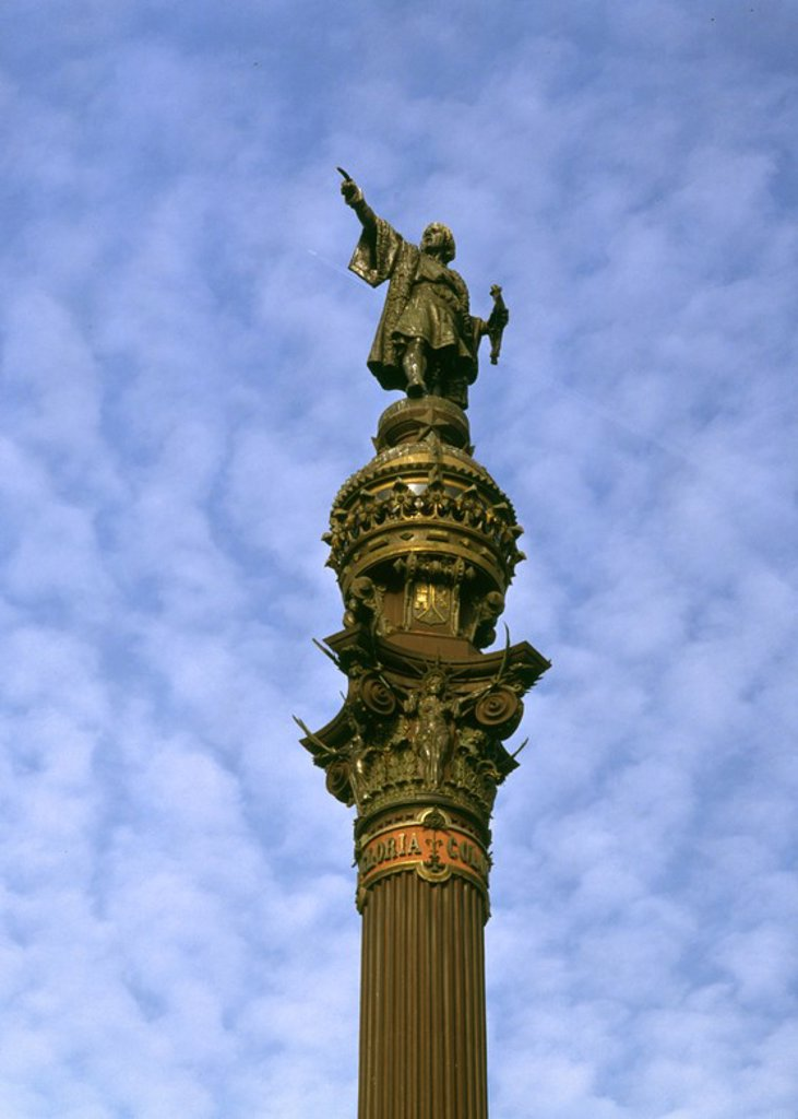 Stock Photo: 4409-105967 MONUMENTO A COLON-DET MITAD SUPERIOR 1886. Author: MONRAVA, GAIETA BUIGAS. Location: MONUMENTO A CRISTOBAL COLON, SPAIN.