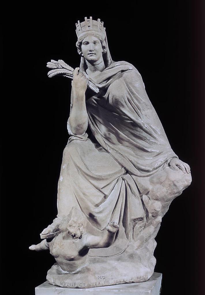TYCHE O FORTUNA DE ANTIOQUIA, COPIA ROMANA DEL ORIGINAL DE EUTIQUIDES DEL SIGLO III AC. Location: MUSEOS VATICANOS-MUSEO PIO CLEMENTINO, VATICANO. : Stock Photo