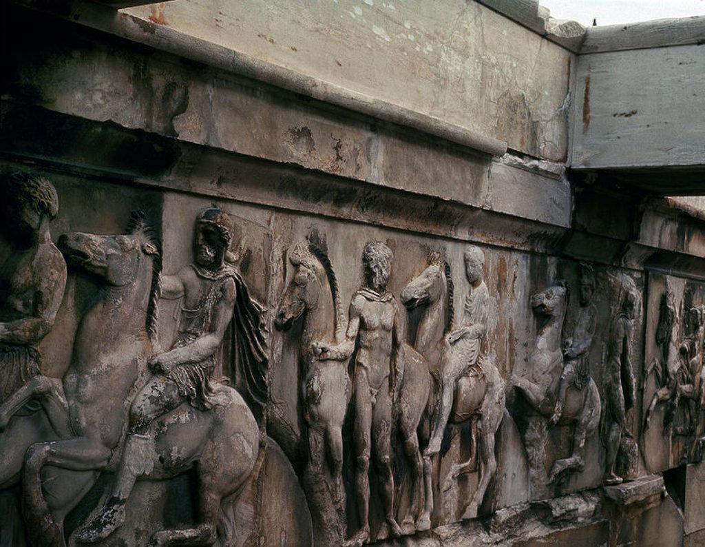 Stock Photo: 4409-10960 FRISO DEL PARTENON - SIGLO V AC. Author: PHIDIAS. Location: ACROPOLIS, ATHENS, GREECE.