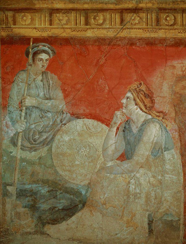 Macedonian King and Queen. Naples, museo San Martino. Location: MUSEO SAN MARTINO, NEAPEL, ITALIA. : Stock Photo