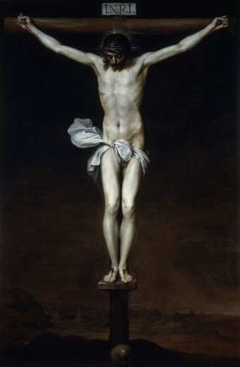 Stock Photo: 4409-11446 CRISTO CRUCIFICADO - 1646 - O/L - 241x150 - Nº INV 635 - BARROCO ESPAÑOL. Author: CANO, ALONSO. Location: ACADEMIA DE SAN FERNANDO-PINTURA, MADRID, SPAIN.