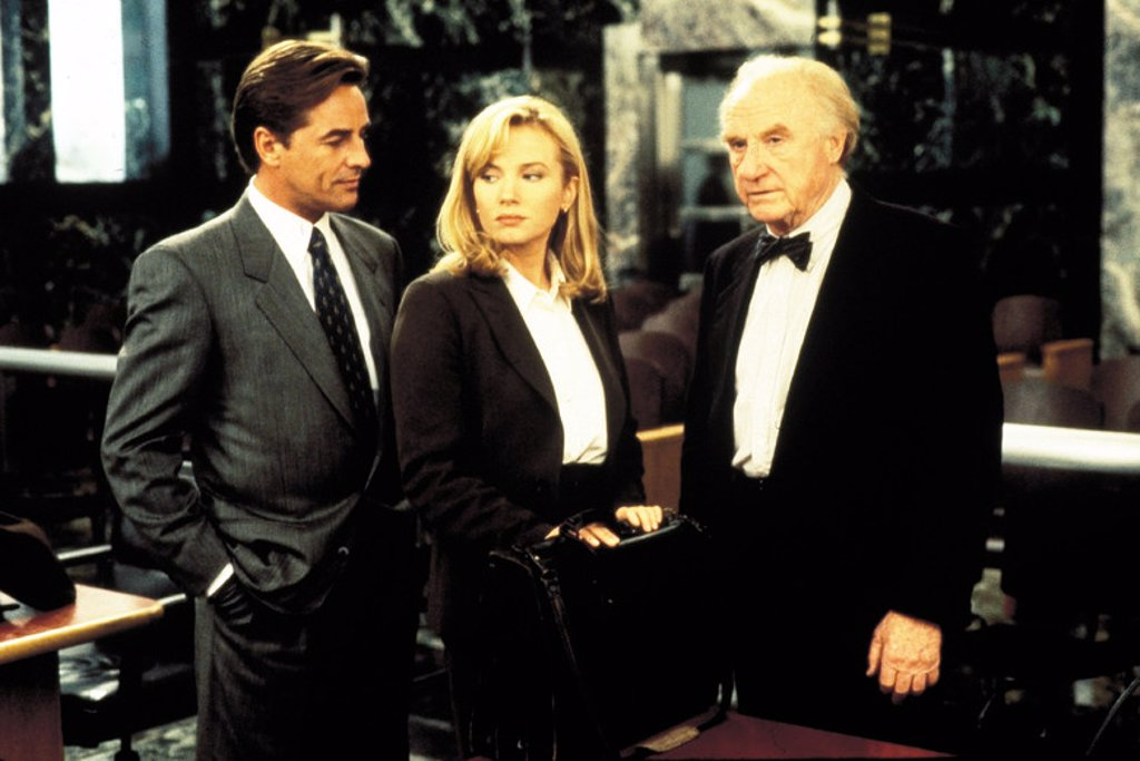Original Film Title: GUILTY AS SIN. English Title: GUILTY AS SIN. Film Director: SIDNEY LUMET. Year: 1993. Stars: JACK WARDEN; REBECCA DE MORNAY; DON JOHNSON. : Stock Photo