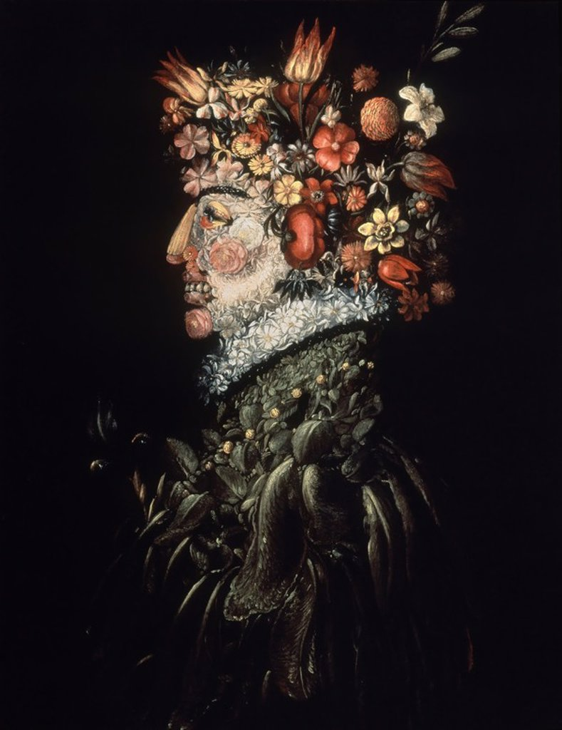 Stock Photo: 4409-11604 LA PRIMAVERA, 1570/75, SIGLO XVI. Author: ARCIMBOLDO, GIUSEPPE. Location: PRIVATE COLLECTION, MADRID, SPAIN.