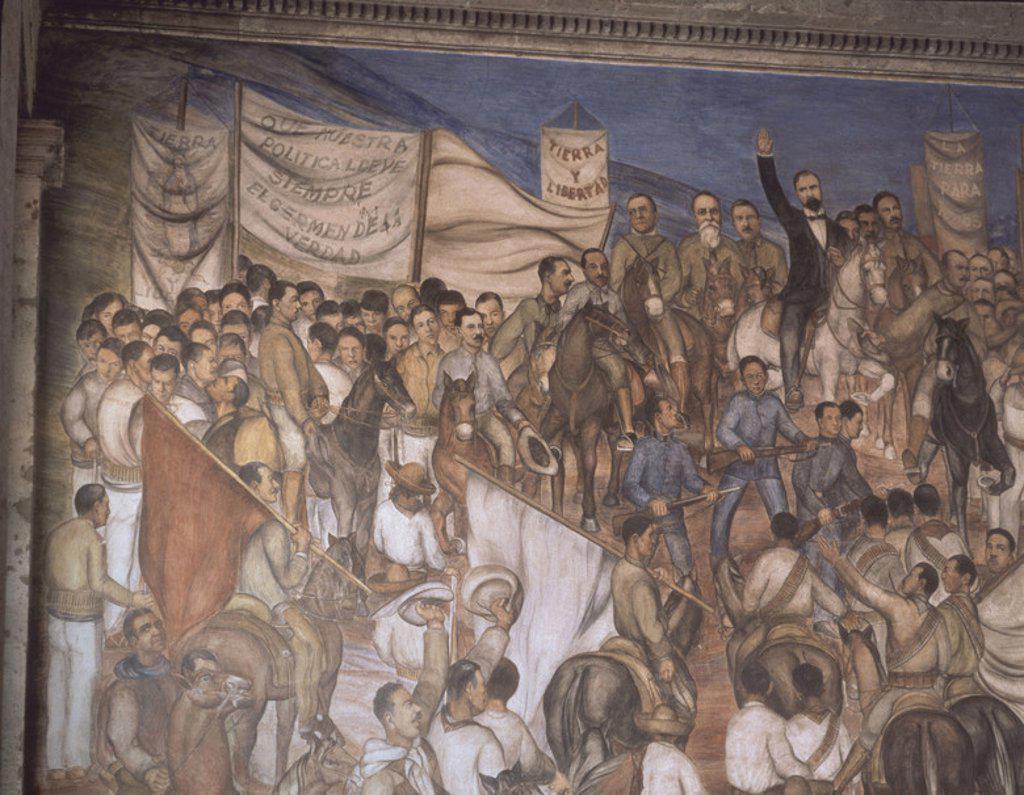 Alegoria De La Revolucion Mexicana Pintura Mural