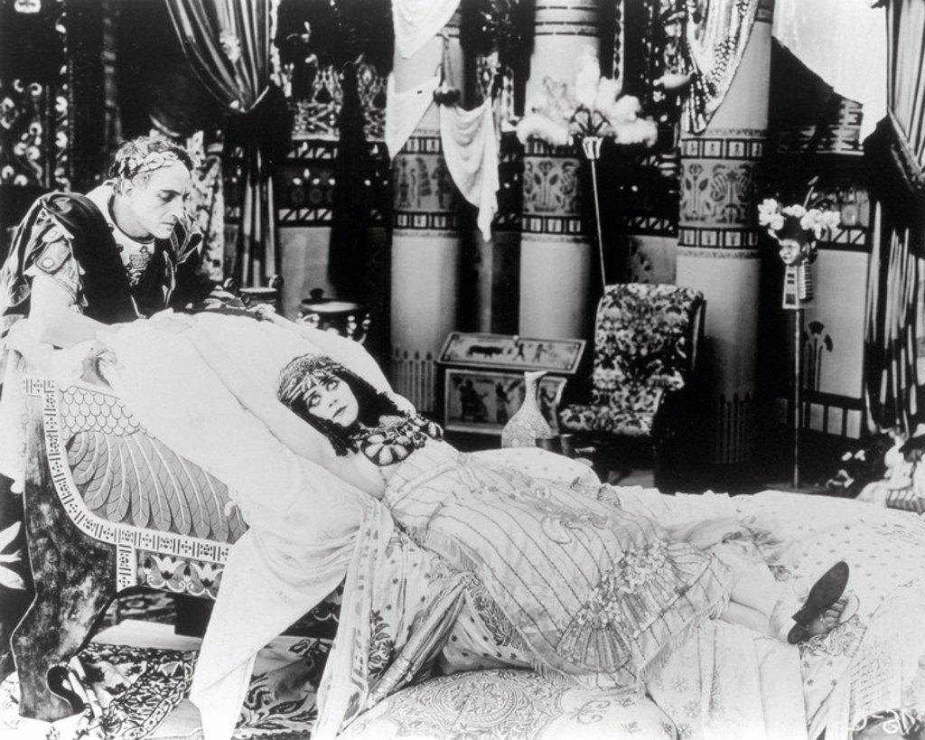 Stock Photo: 4409-117518 Original Film Title: CLEOPATRA. English Title: CLEOPATRA. Film Director: J. GORDON EDWARDS. Year: 1917. Stars: GAJUS JULIUS CAESAR; CLEOPATRA VII FARAONA; THEDA BARA; FRITZ LEIBER.