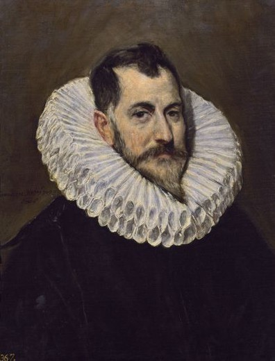 Stock Photo: 4409-12491 UN CABALLERO - 1604-1614 - OLEO/LIENZO - 64 x 51 cm - NP 810 - MANIERISMO ESPAÑOL. Author: EL GRECO. Location: MUSEO DEL PRADO-PINTURA, MADRID, SPAIN.