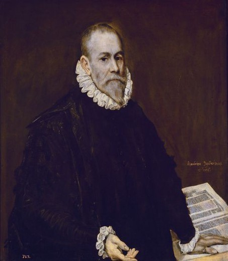 Stock Photo: 4409-12492 Doctor Rodrigo de la Fuente - 1577/89 - 96x82,3 cm - oil on canvas - Spanish Mannerism - NP 807. Author: EL GRECO. Location: MUSEO DEL PRADO-PINTURA, MADRID, SPAIN. Also known as: EL MEDICO (¿DOCTOR RODRIGO DE LA FUENTE? ).