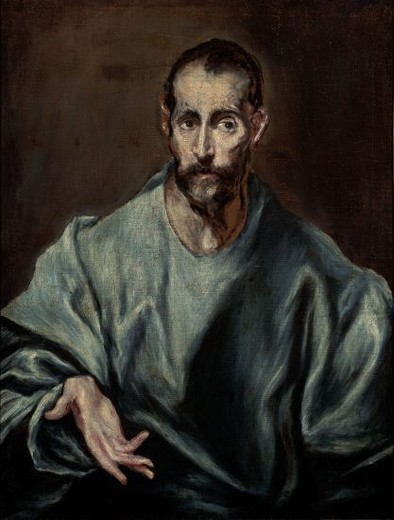 St. James the Greater - 1610/14 - 70x54 cm - oil on canvas - NP 2890. Author: EL GRECO. Location: MUSEO DEL PRADO-PINTURA, MADRID, SPAIN. Also known as: SANTIAGO EL MAYOR. : Stock Photo