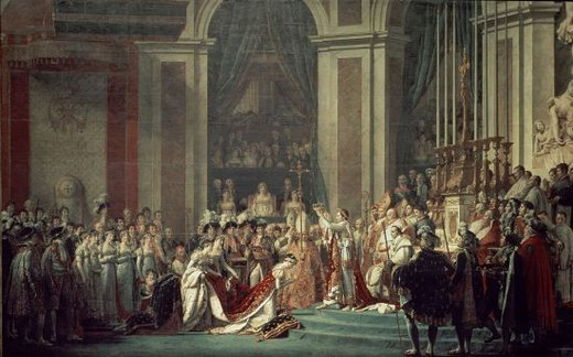 Stock Photo: 4409-12675 French school. Napoleon's coronation. 1805. Oil on canvas (620 x 970 cm). Paris, musée du Louvre. Author: DAVID, JACQUES LOUIS. Location: LOUVRE MUSEUM-PAINTINGS, PARIS, FRANCE.