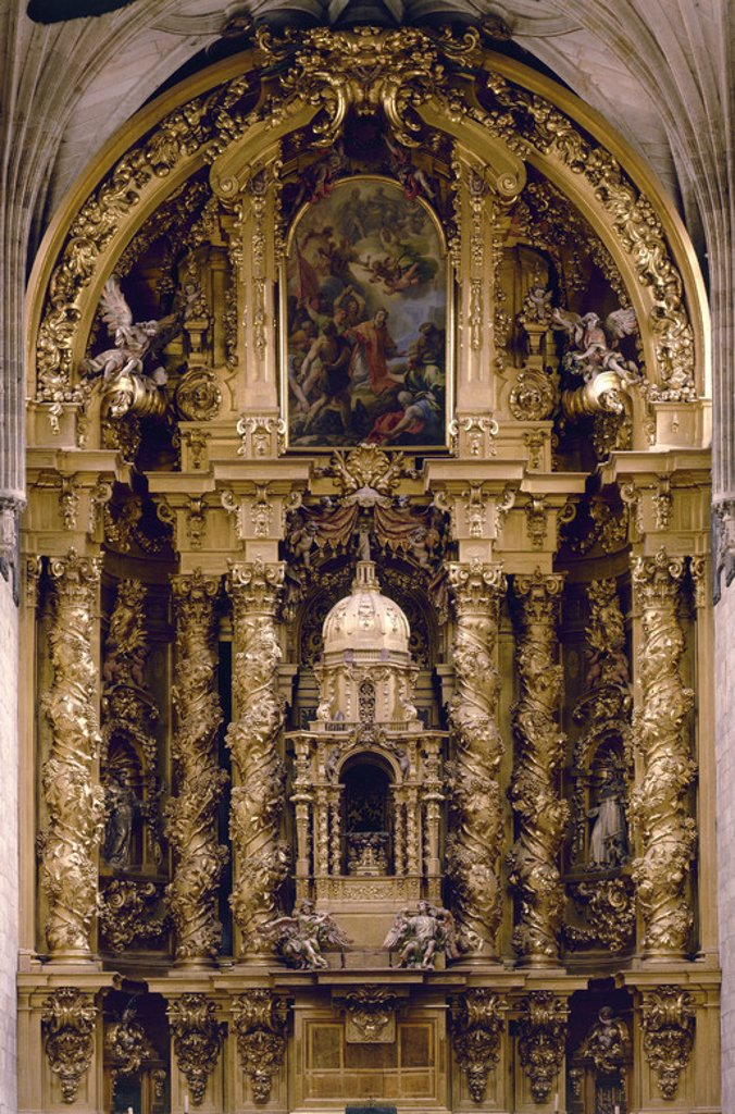 Stock Photo: 4409-12795 RETABLO MAYOR DE LA IGLESIA DEL CONVENTO DE SAN ESTEBAN  - 1692. Author: CHURRIGUERA JOSE BENITO. Location: CONVENTO DE SAN ESTEBAN, SPAIN.