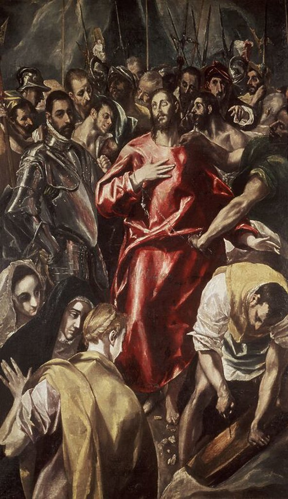 Stock Photo: 4409-13726 EL EXPOLIO - 1580-86 - OLEO/LIENZO - 72 x 44 cm - MANIERISMO ESPAÑOL. Author: EL GRECO. Location: ALTE PINAKOTHEK, MUNICH, DEUTSCHLAND.