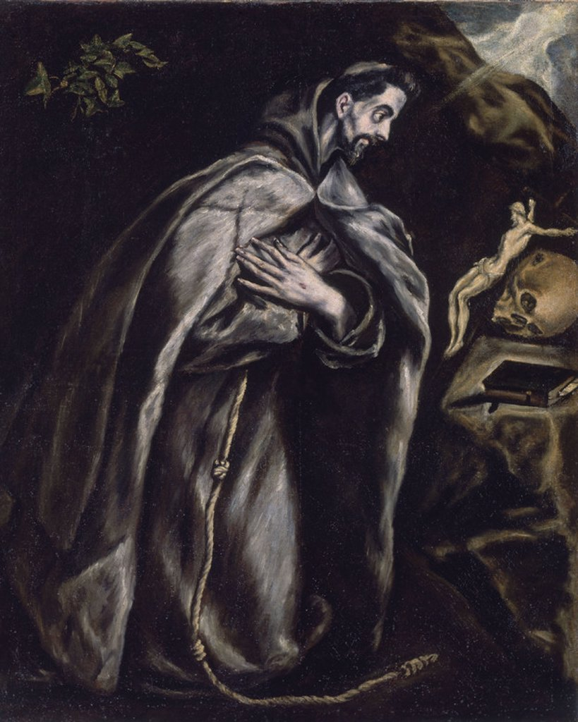Stock Photo: 4409-14023 EXTASIS DE S FRANCISCO- MANIERISMO ESPAÑOL. Author: EL GRECO. Location: HOSPITAL DE TAVERA / MUSEO DUQUE DE LERMA, TOLEDO, SPAIN.