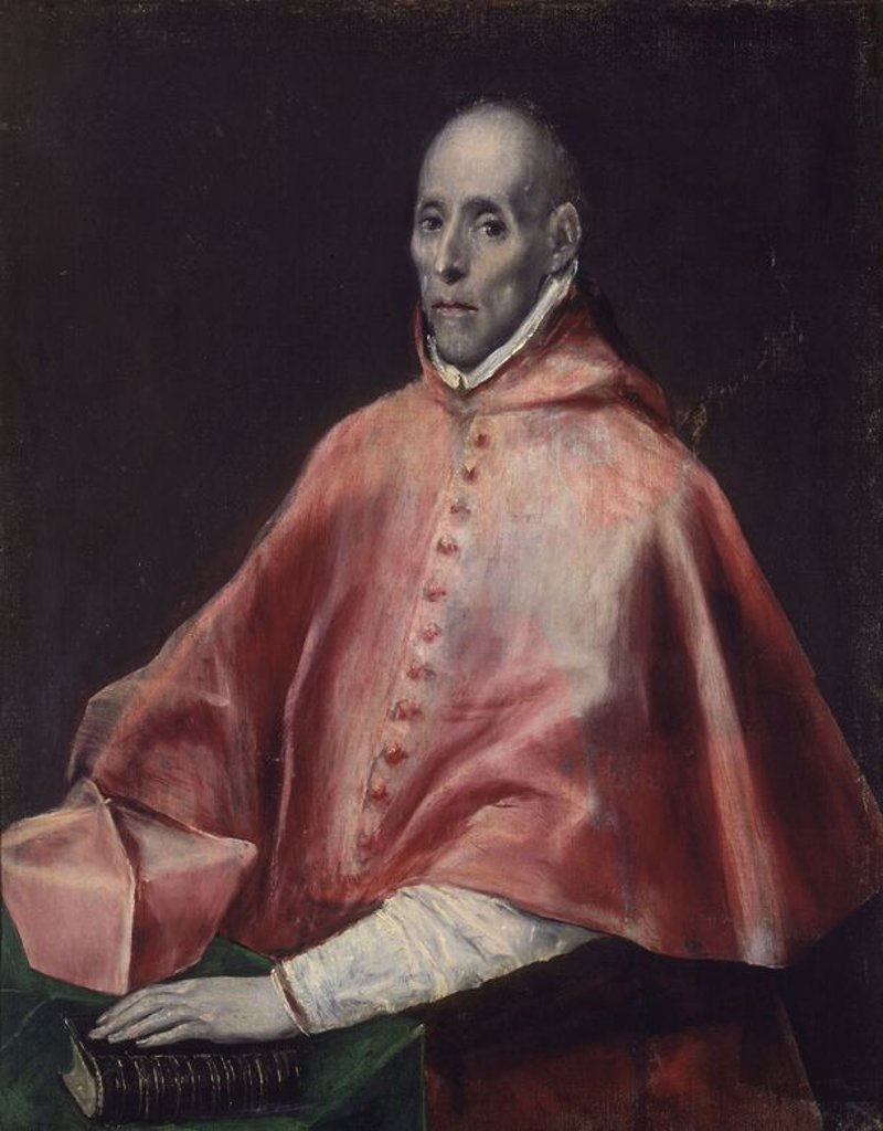Portrait of Cardinal Juan de Tavera - oil on canvas - Spanish Mannerism. Author: EL GRECO. Location: HOSPITAL DE TAVERA / MUSEO DUQUE DE LERMA, TOLEDO, SPAIN. Also known as: CARDENAL JUAN PARDO TAVERA. : Stock Photo