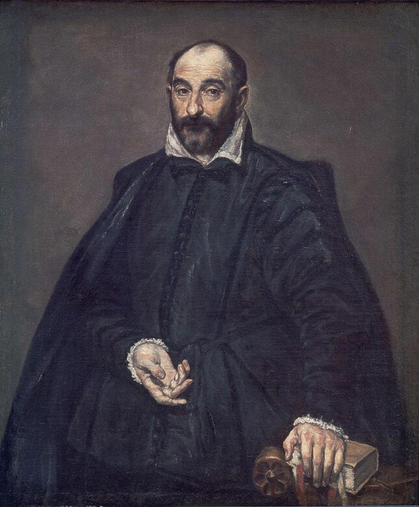 GIAMBATTISTA DELLA PORTA (1535-1615) O ANDREA PALLADIO (1508-1580) - PINTADO ENTRE 1570 Y 1575 - EPOCA ITALIANA. Author: EL GRECO. Location: MUSEO DE COPENHAGUE, KOPENHAGEN, DENMARK. : Stock Photo