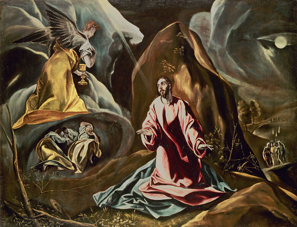 Stock Photo: 4409-14106 ORACION EN EL HUERTO - 1587-96 - OLEO/LIENZO - 102 x 114 cm - MANIERISMO ESPAÑOL. Author: EL GRECO. Location: NATIONAL GALLERY, LONDON, ENGLAND.