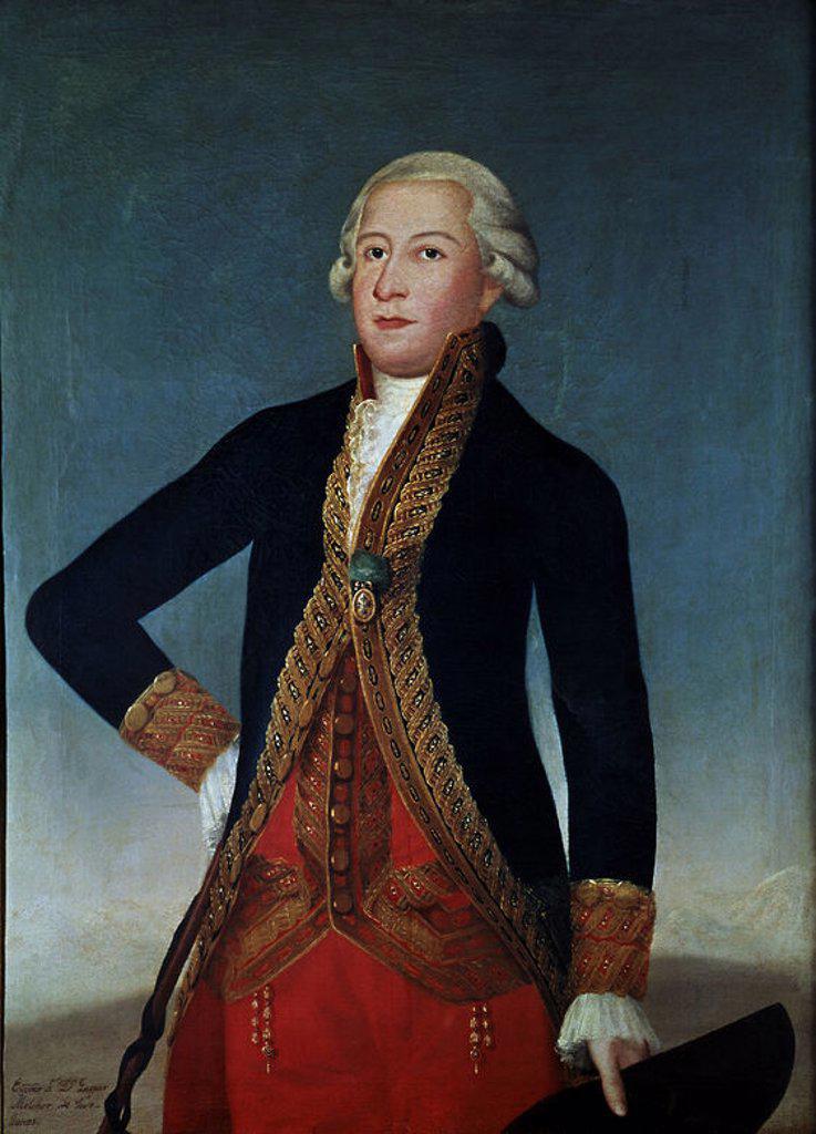 Stock Photo: 4409-14126 GASPAR MELCHOR DE JOVELLANOS (1744-1811) - O/L - 114x84. Author: ANONYMOUS. Location: MUSEO LAZARO GALDIANO-COLECCION, MADRID, SPAIN.