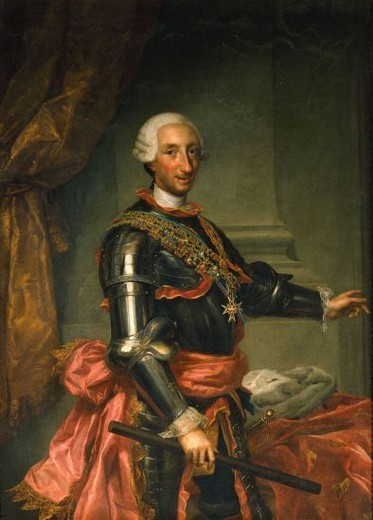CARLOS III - SIGLO XVIII - PINTURA NEOCLASICA. Author: MENGS ANTON RAFAEL. Location: MINISTERIO DE HACIENDA-COLECCION, MADRID, SPAIN. : Stock Photo