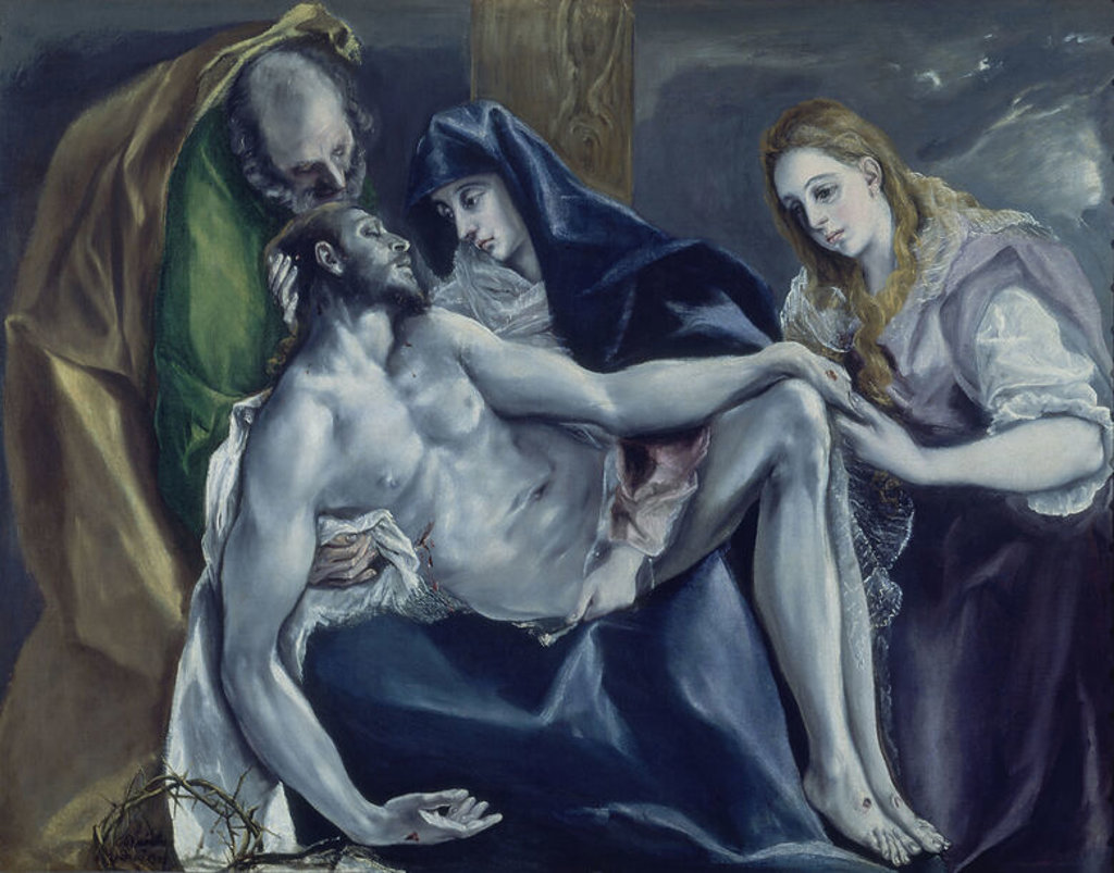 LA PIEDAD- 1578/85- O/L 120x145- MANIERISMO ESPAÑOL. Author: EL GRECO. Location: PRIVATE COLLECTION, LONDON, ENGLAND. : Stock Photo