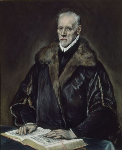 RETRATO DE GIACOMO BOSIO. Author: EL GRECO. Location: MUSEO KIMBELL, FORT WORTH-TEXAS, USA. : Stock Photo