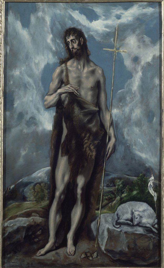 Stock Photo: 4409-15498 SAN JUAN BAUTISTA - SIGLO XVI/XVII - MANIERISMO ESPAÑOL. Author: EL GRECO. Location: MUSÉE DES BEAUX-ARTS, SAN FRANCISCO-CALIFORNIA, USA.