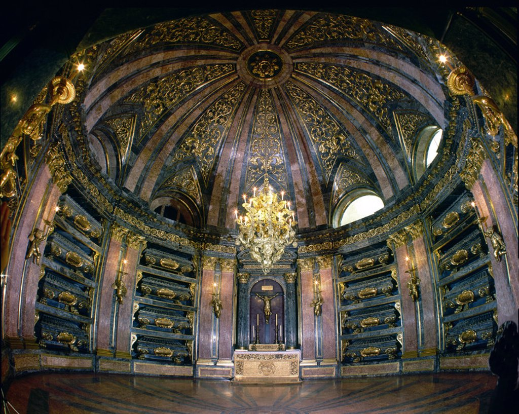 Stock Photo: 4409-15833 PANTEON REAL - SIGLO XVII - (OJO DE PEZ). Author: CRESCENCI JUAN BAUTISTA. Location: MONASTERIO-INTERIOR, SAN LORENZO DEL ESCORIAL, MADRID, SPAIN.