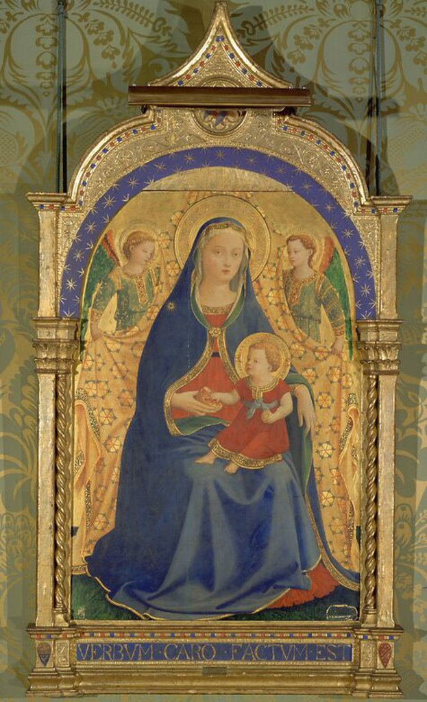 Stock Photo: 4409-16138 LA VIRGEN DE LA GRANADA - SIGLO XV - ESCUELA FLORENTINA. Author: FRA ANGELICO. Location: PRIVATE COLLECTION, MADRID, SPAIN.