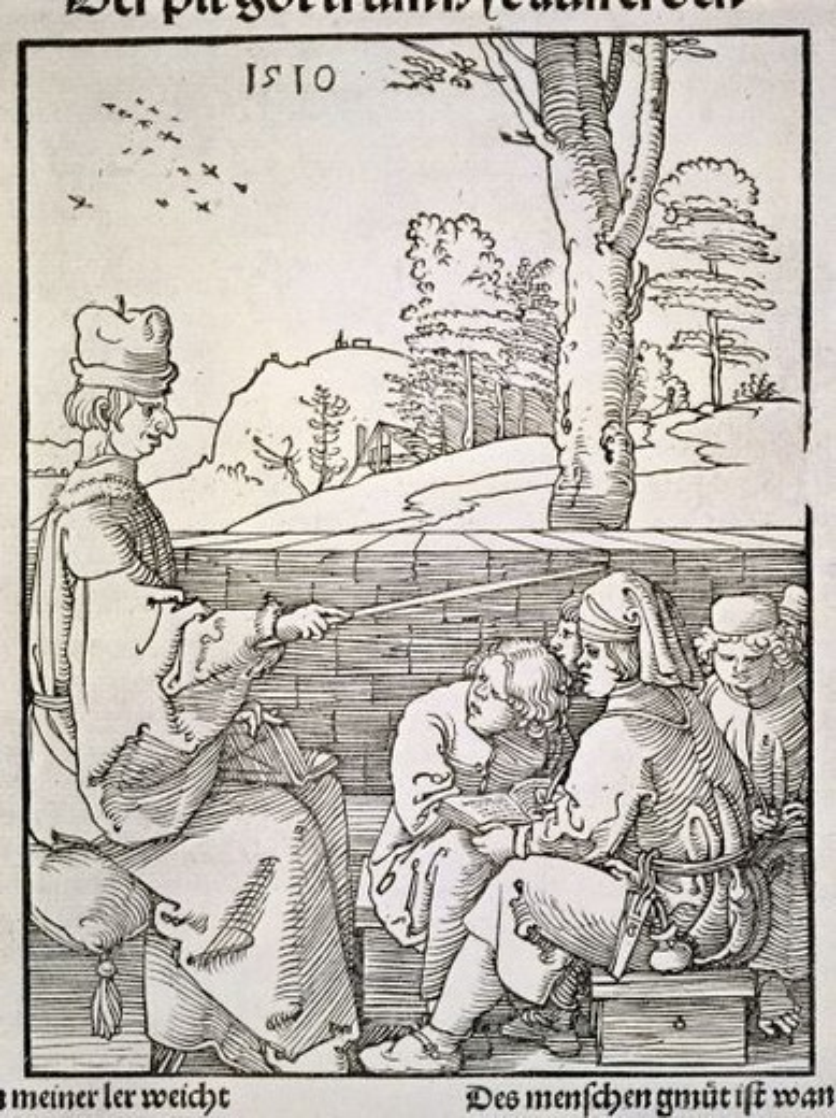 Stock Photo: 4409-17159 EL MAESTRO DE ESCUELA S XVI. Author: DURER, ALBRECHT. Location: BIBLIOTECA NACIONAL-COLECCION, MADRID, SPAIN.