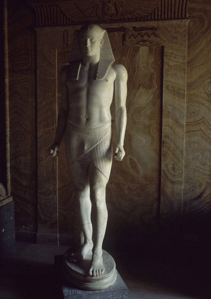 Stock Photo: 4409-17547 Statue of Antinous, Egyptian man.. Vatican, Egyptian museum. Location: MUSEOS VATICANOS-MUSEO GREGORIANO EGIPCIO, VATICANO.