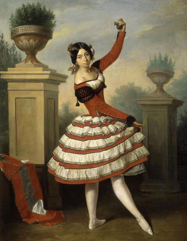 Stock Photo: 4409-17902 JOSEFA VARGAS - 1840 - OLEO/LIENZO - 91 x 72 cm - ROMANTICISMO ESPAÑOL. Author: ESQUIVEL, ANTONIO MARIA. Location: PALACIO DE LAS DUEÑAS.