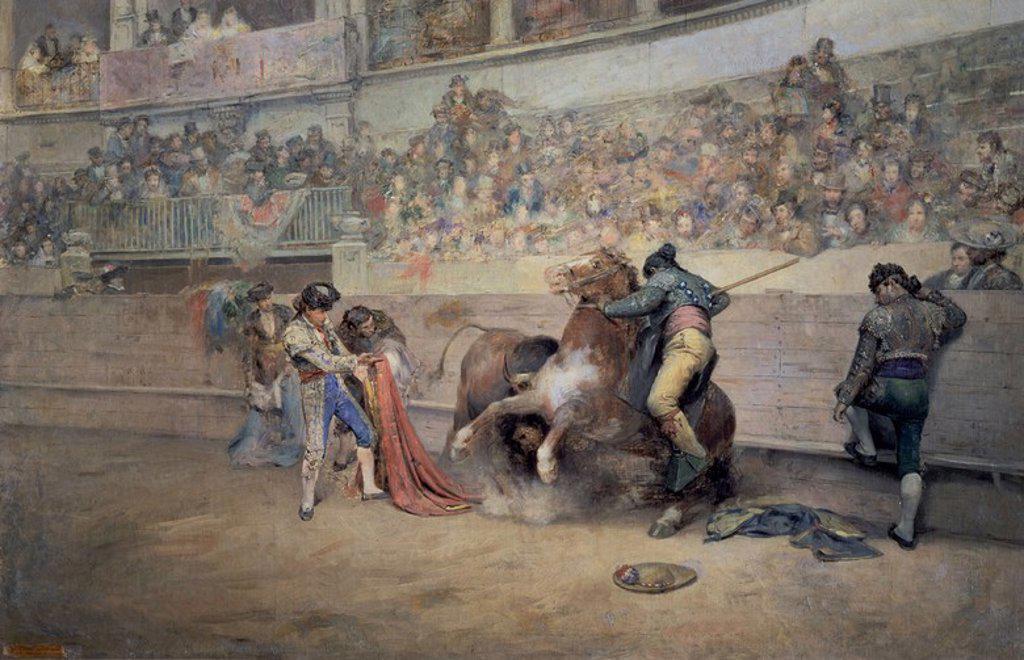 Stock Photo: 4409-18733 EL QUITE DE ESPADA. O/L 0.75 X 1.15 m (S. 1872). Author: DENIS BELGRANO JOSE. Location: MUSÉE DES BEAUX-ARTS, MALAGA, SPAIN.