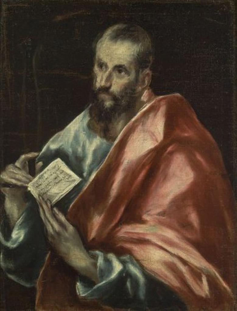 SAN PABLO - 1610-1614 - OLEO/LIENZO - 72 x 55 cm - NP 2892 - MANIERISMO ESPAÑOL. Author: EL GRECO. Location: MUSEO DEL PRADO-PINTURA, MADRID, SPAIN. : Stock Photo