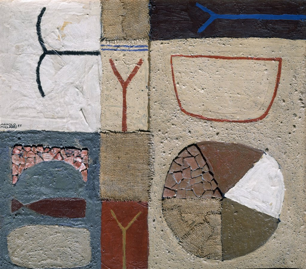 Stock Photo: 4409-19827 MOSAICO-1953-. Author: MILLARES MANUEL / MILLARES MANOLO. Location: PRIVATE COLLECTION, MADRID, SPAIN.